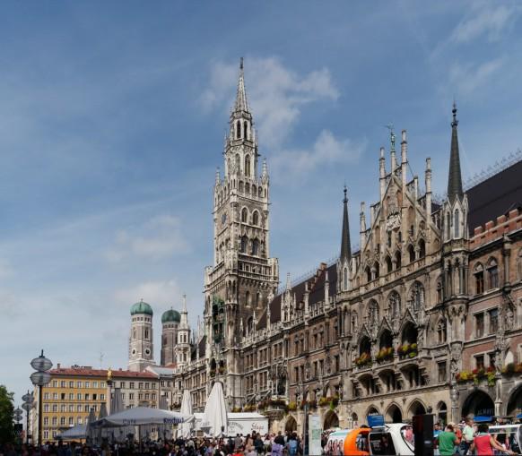 München, Marienplatz, Rathaus, 2019