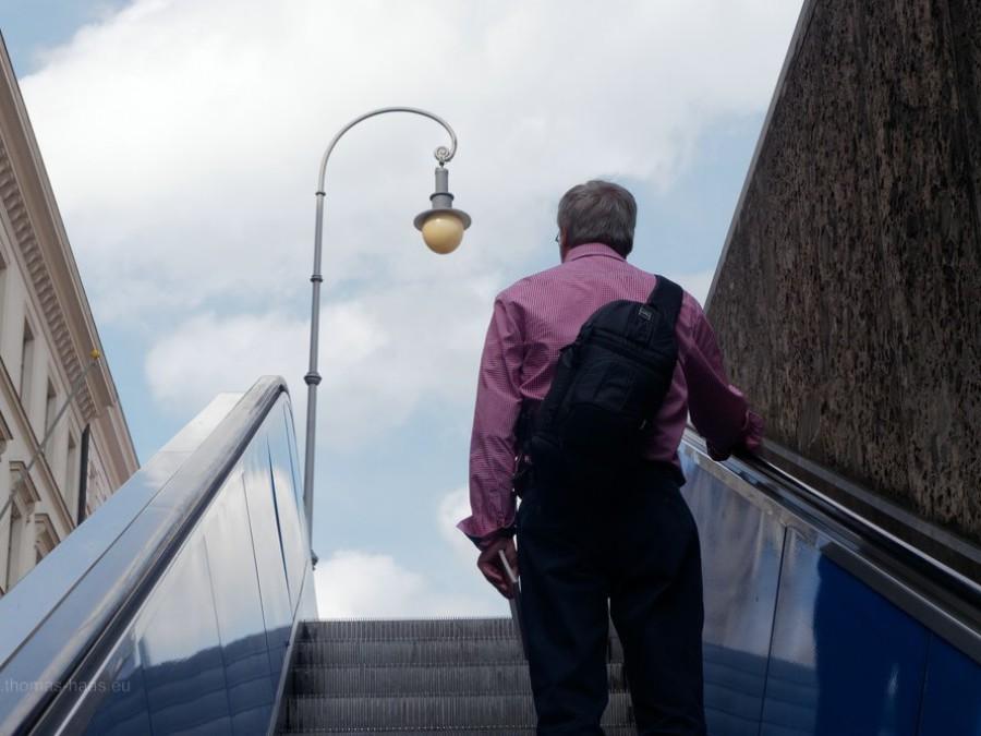Rolltreppe nach oben...
