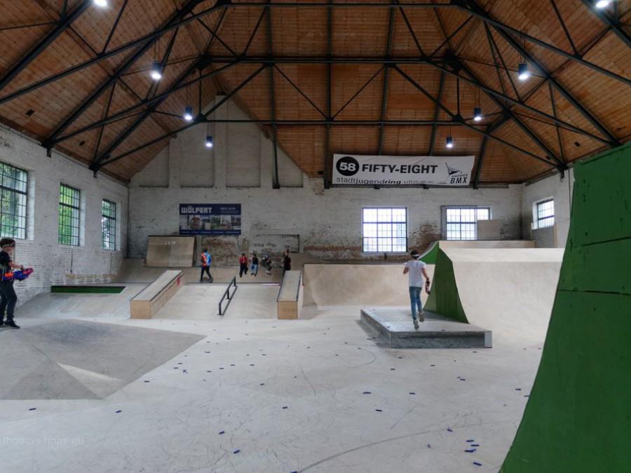 Nutzung der alten Reithalle: Skaterpark, 2019