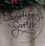 Logo, Schriftzug, Quartiers-Garten, Ulm, 2019