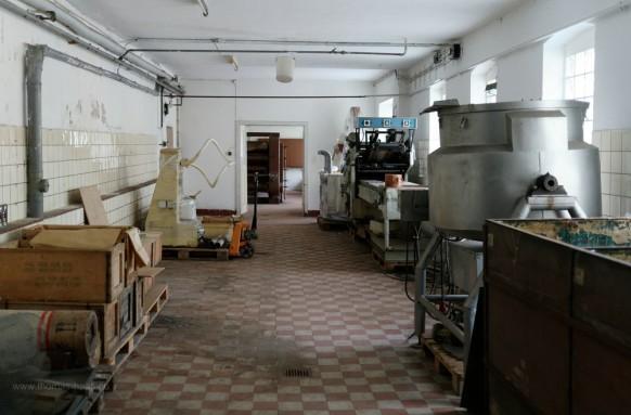 Farbrikräume in der alten Lebkuchenbäckerei, Arzberg, 2019