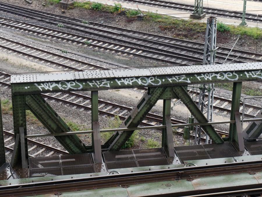 Eisenbahnbrücke, alt, 2019