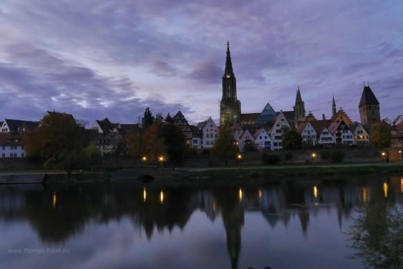 Der Blick auf die Ulmer Altstadt, Oktober 2019