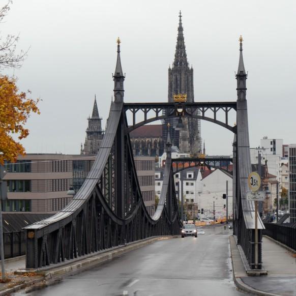 Dezember 2019, Bild des Monats, Neutorbrücke vom Kienlesberg, Ulm, 2019