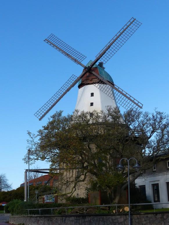 Windmühle Amanda, Kappeln, Tageslicht, Oktober 2019