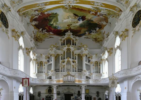 """Orgel in der Klosterkirche Roggenburg, die """"Große Roggenburgerin"""", 2019"""