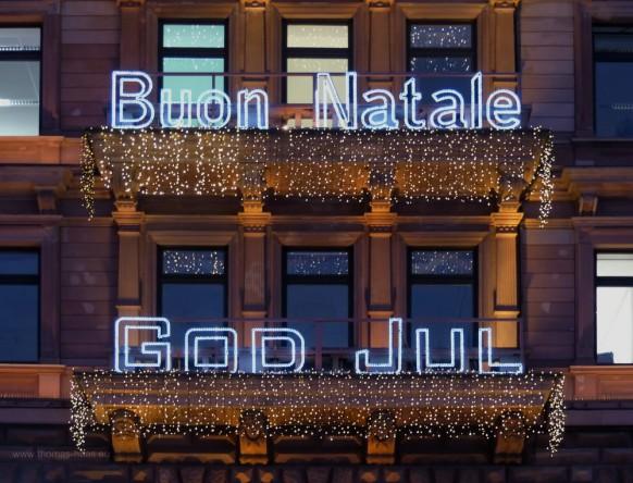 Hotelfassade, Weihnachtsgrüße, Hamburg 2019