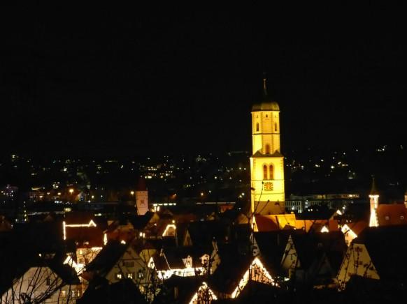 Blick vom Gigelberg bei Nacht, Dezember 2019