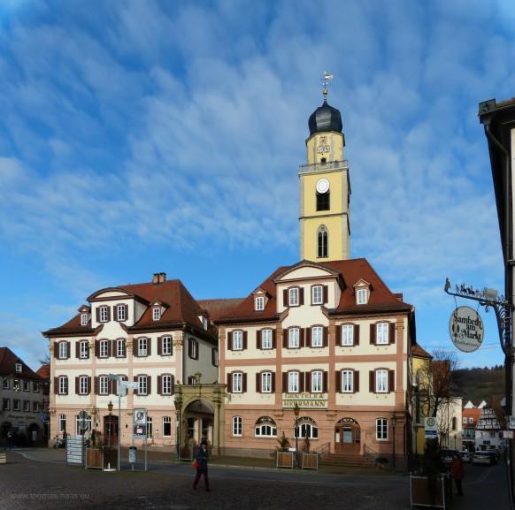 Bad Mergentheim, Marktplatz, Januar 2020