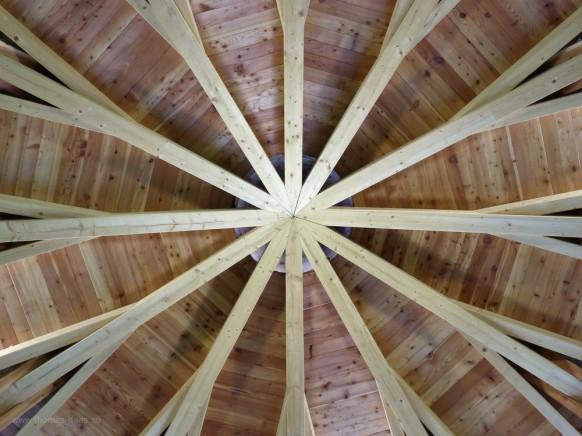 Pavillon im Kurpark, Deckenkonstruktion