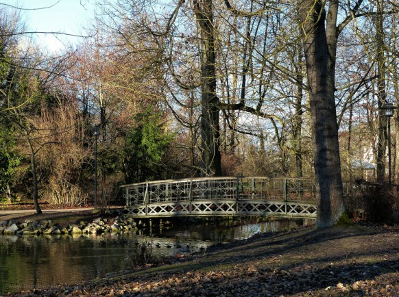 Kurpark Bad Mergentheim, Brücke, Januar 2020