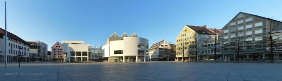 Der Ulmer Münsterplatz im März 2020