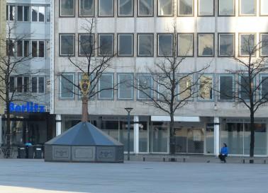 Münsterplatz, social distancing, März 2020