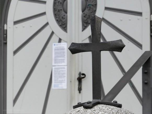Kreuz und Portal, St. Michael,Vöhringen/Iller