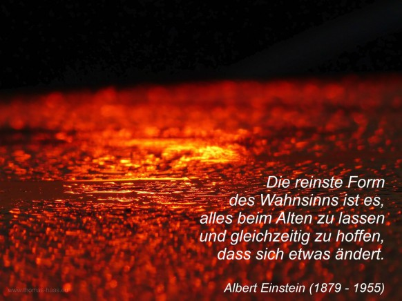 Albert-Einstein-Zitat vor Sonnenaufgang, 2020
