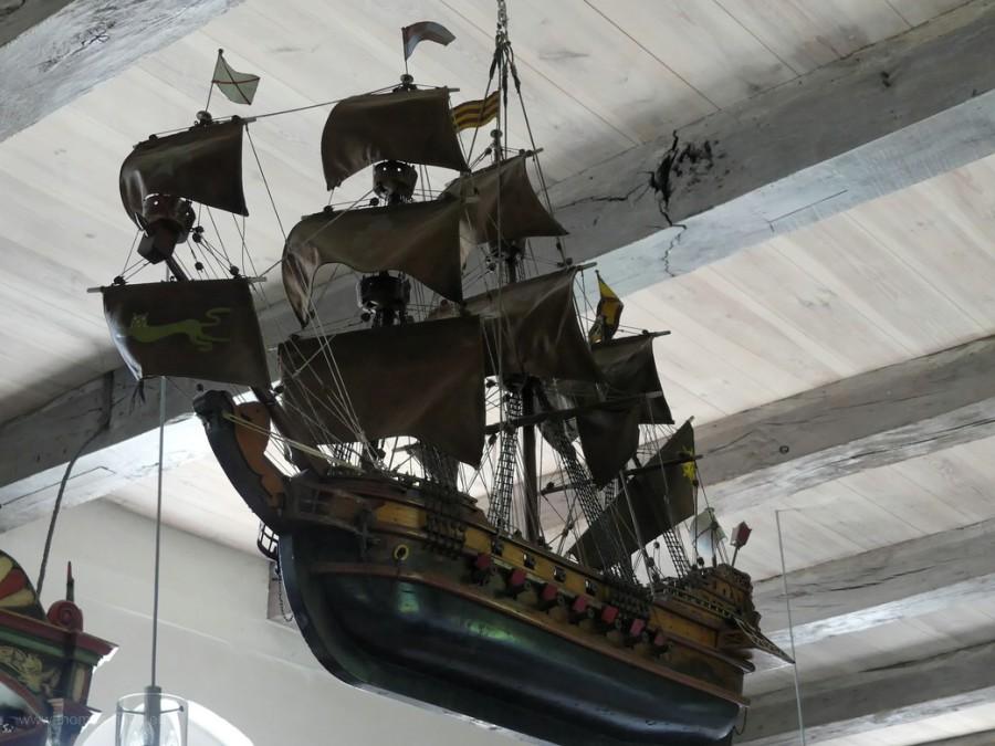 Votivschiff in der Schifferkirche, 2020