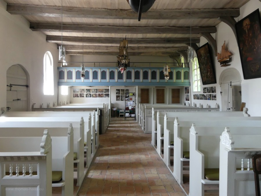 Kirchenraum, Schifferkirche, Arnis, 2020