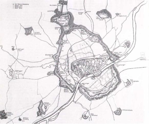 Plan der Bundesfestung Ulm