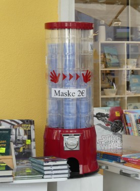 Verkaufsautomat für Schutzmasken, 2020
