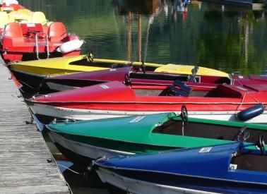 Tretboot-Flotte im Alpsee