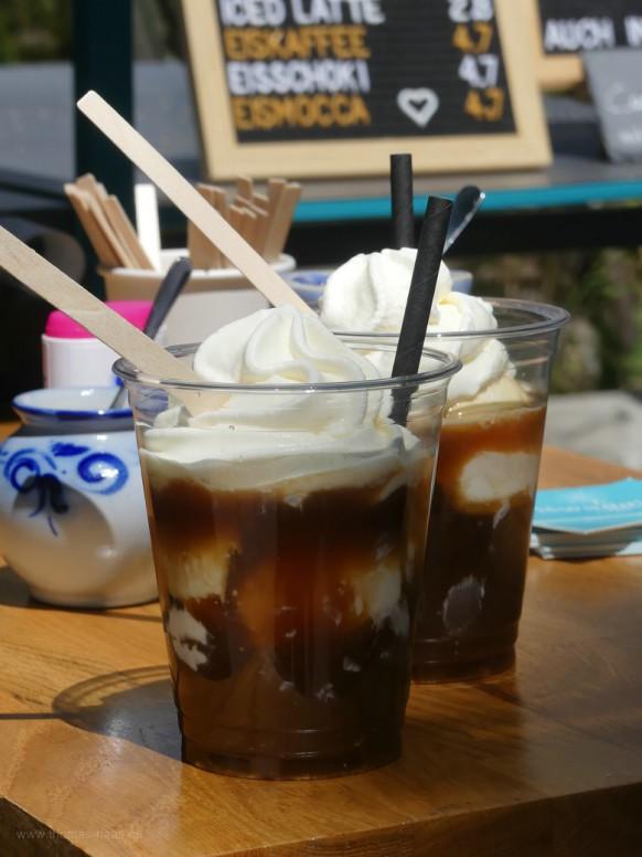 Vom mobilen Shop, der Eiskaffe, Cold Brew uns superlecker...