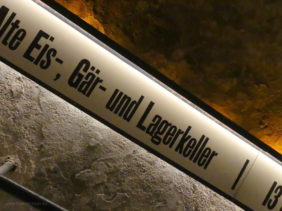 Treppe ins Brauereigewölbe, Berg, 2020