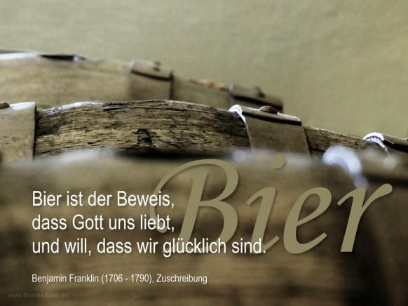 Benjamin Franklin (Zuschreibung) über Bier...