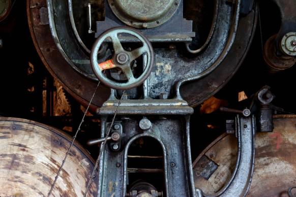 Papiermaschine in Blankenberg, Oktober 2020