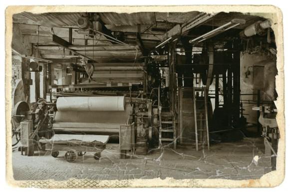 Papiermaschine blankenberg in historischer Bearbeitung, Oktober 2020