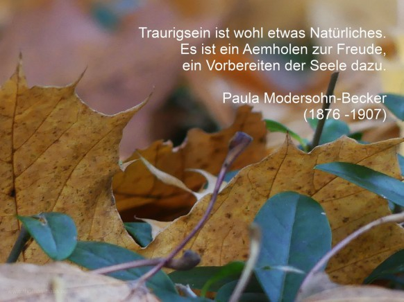 Novembermotiv mit Zitat Paula Modersohn-Becker