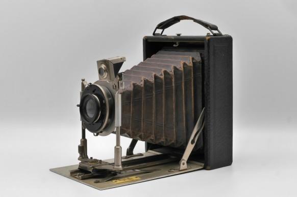 Leonar-Laufboden-Plattenkamera, ca. 1908