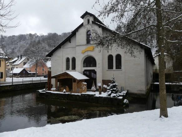 Weihnachtskrippe, Hammerschmiede, Königsbronn, Januar 2021
