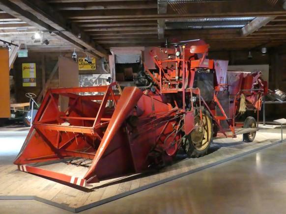 Mähdrescher im Museum Illerbeuren, 2021