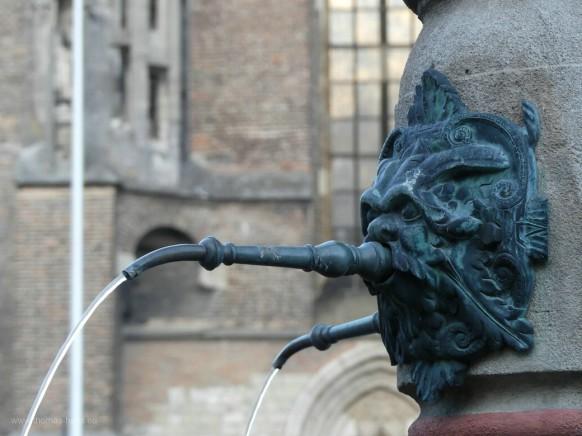 Wasserspeier vom Löwenbrunnen und das Ulmer Münster...