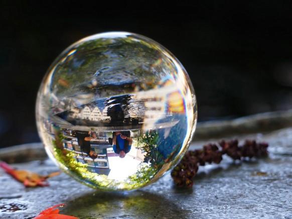 Neptunbrunnen, Kugelbild, 2021