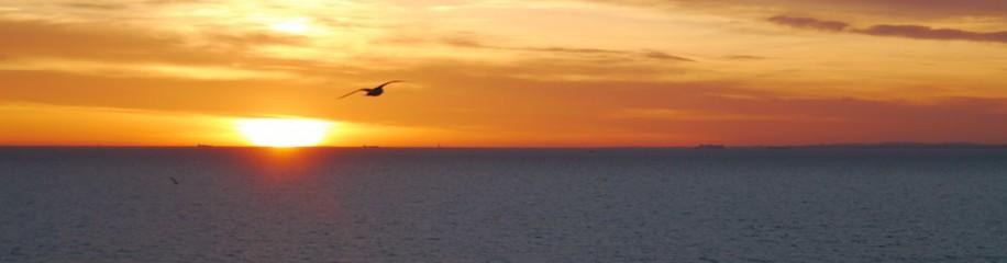 Sonnenaufgang über der Ostsee, Februar 2016, Damp