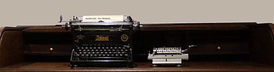 Schreibmaschine als Symbol für Kommunikation