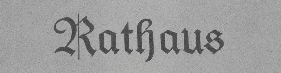 Rathaus, Schriftzug