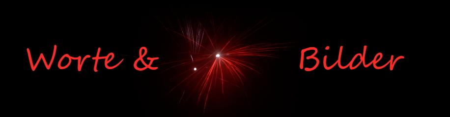 Feuerwerk mit Textteil Worte & Bilder