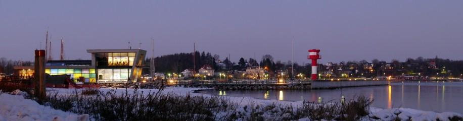 Ostsee-Infozentrum, Leuchtturm, Hafen Eckerfoerde