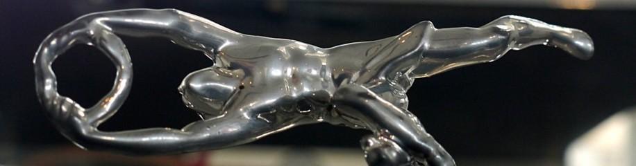 Kuehlerfigur auf PRAGA, Hymer Museum 2016