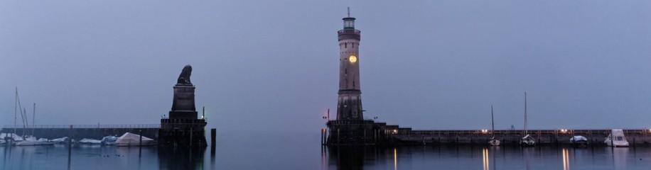 Lindau, Hafen, Langzeitbelichtung