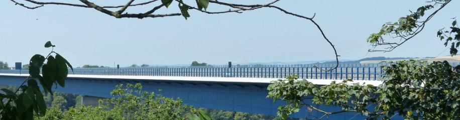Die Moseltalbrücke an der A61, Juli 2019