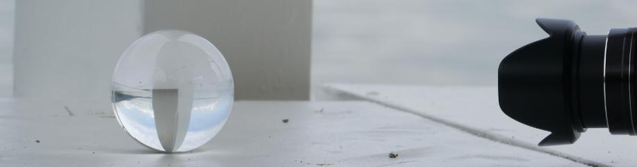 Ein Kugelbild entsteht...Griesbadbrunnen, Ulm, Detail